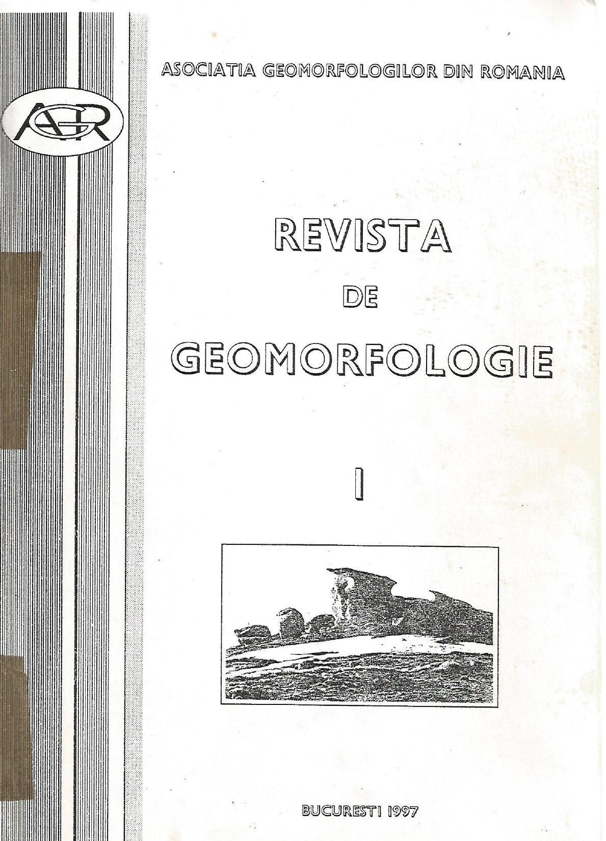Revista de geomorfologie numarul 1 din anul 1997